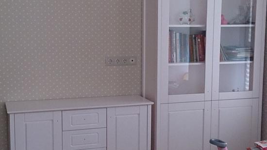 Детская Снежана шкаф для книг бук (жемчужный)