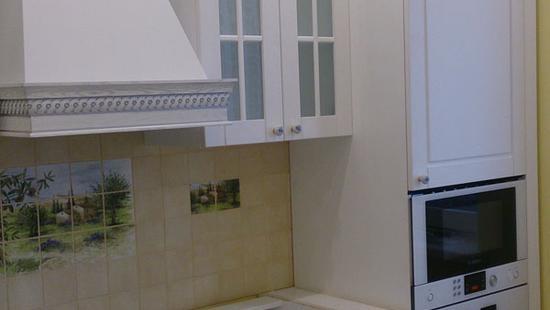 Кухня Адель дуб (белая эмаль)