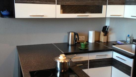 Кухня Камилла бук (белая эмаль и венге)
