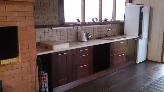Кухня Вариант-Б бук (коричневый)
