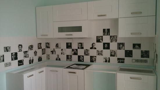 Кухня Вариант-Б бук (белая эмаль)