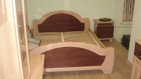 Спальня Селена кровать сосна (светло-бежевый)