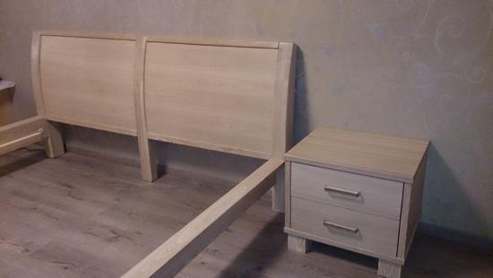 Спальня Селена-2 кровать дуб (выбеленный)