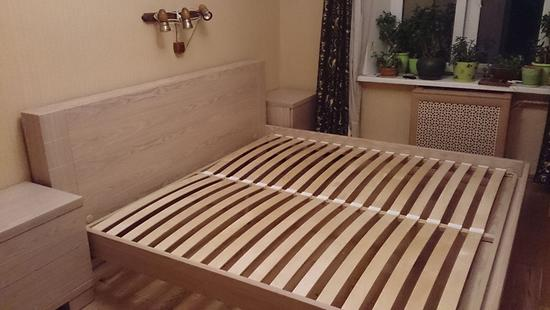 Спальня Карина кровать дуб (светло-бежевый)