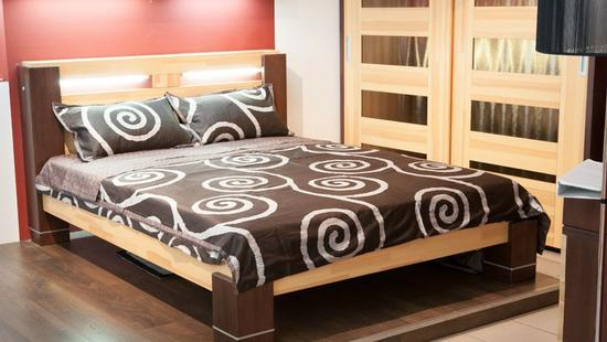 Спальня Премьера сосна (светло-бежевый и коричневый)