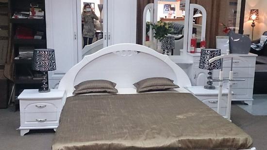 Спальня Лира кровать бук (белая эмаль)
