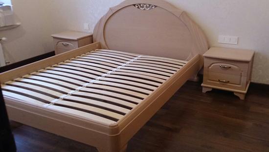 Спальня Лира кровать бук (светло-бежевый)