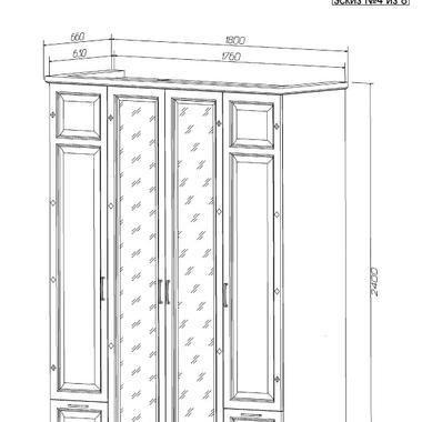 Спальня Каролина шкаф
