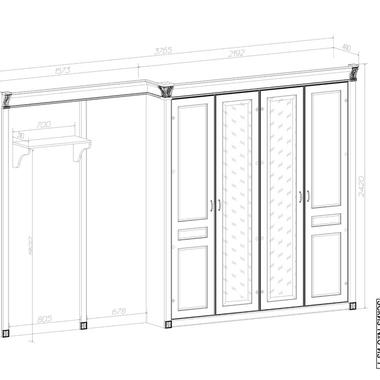 Спальня Элегия шкаф